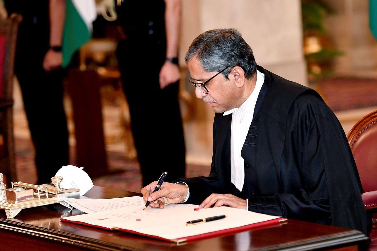 Justice NV Ramana sworn in as CJI