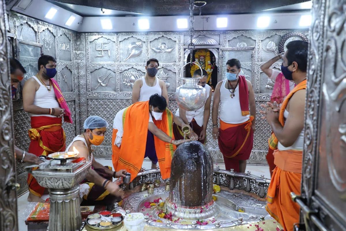 Ujjain: Anushthan to end corona begins at Mahakal temple
