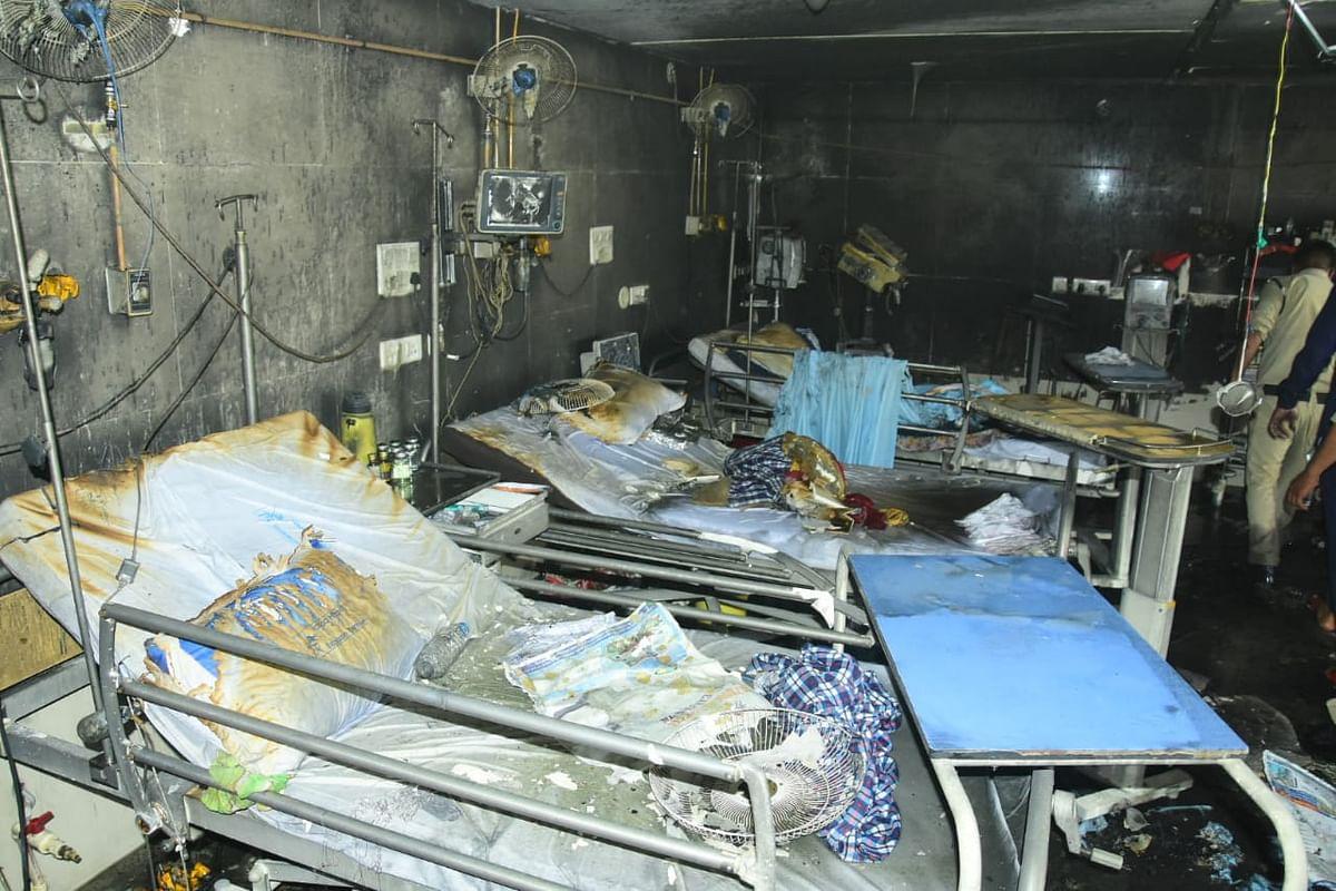 Burned ward of hospital