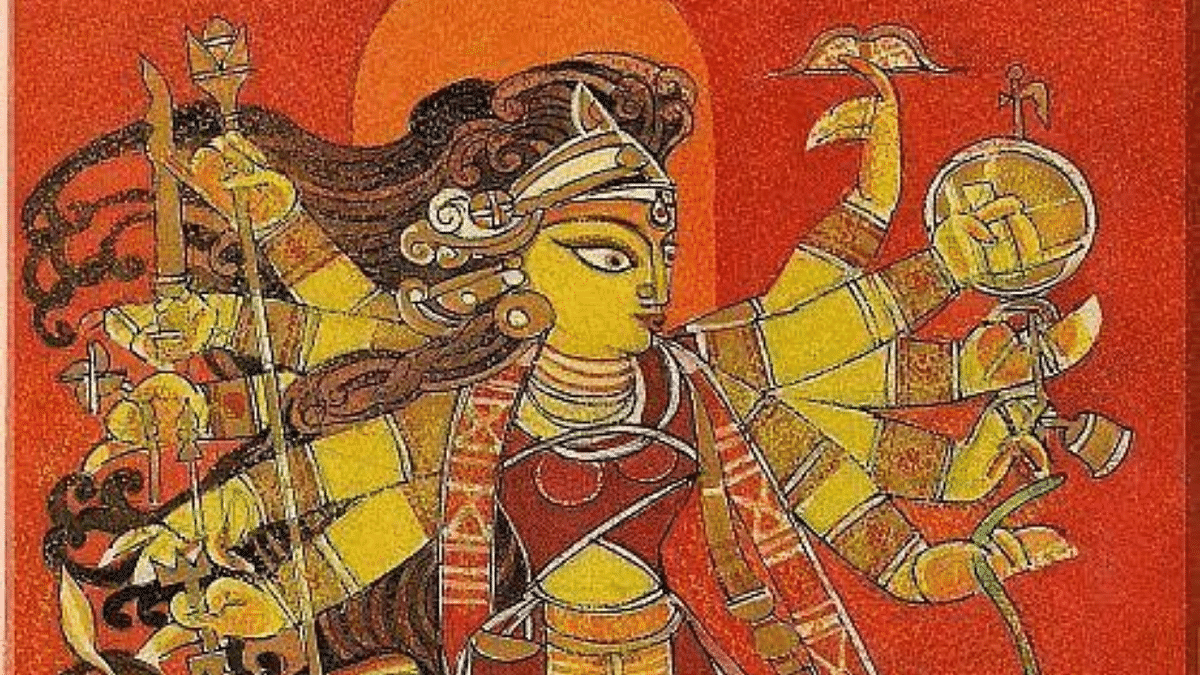 #DurgaAshtami: Amidst pandemic, devotees pray for good health and greet others virtually