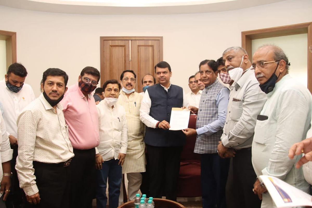 Representatives of trade association meet Devendra Fadnavis for reconsidering COVID-19 restrictions in Maharashtra