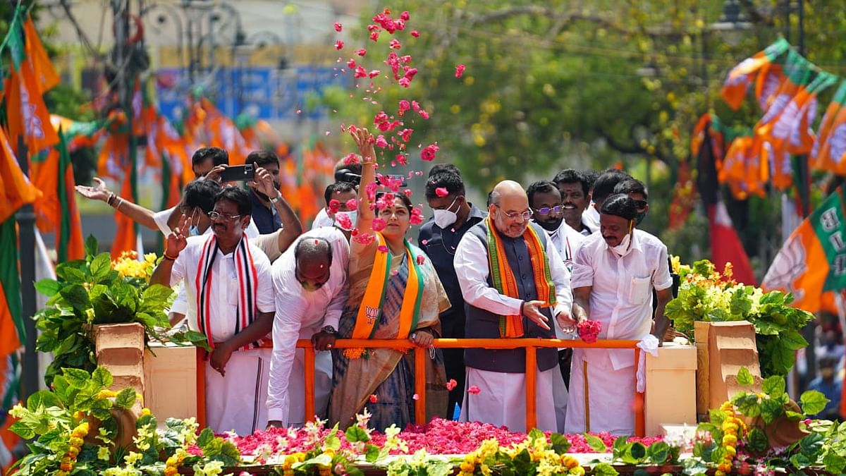 Tamil Nadu assembly election: Amit Shah terms DMK-Congress alliance as 'dynastic and corrupt'