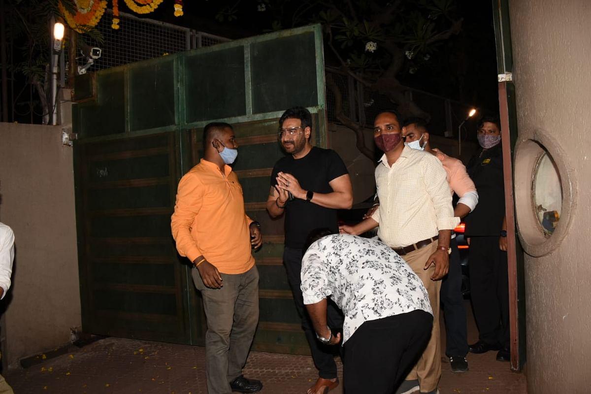 Amid night curfew, Ajay Devgn celebrates birthday with fans outside his Mumbai residence