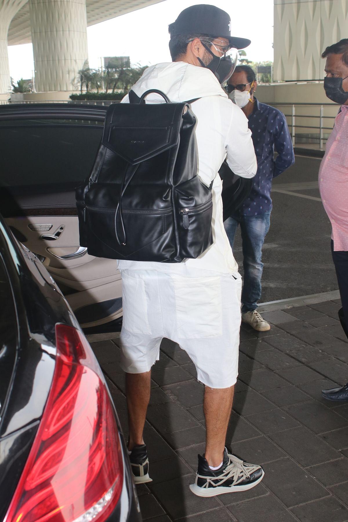 Shahid Kapoor flaunts Rs 2.2 lakh backpack in a dapper ensemble at Mumbai airport