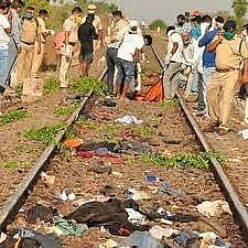 The railway tracks where the accident happened.
