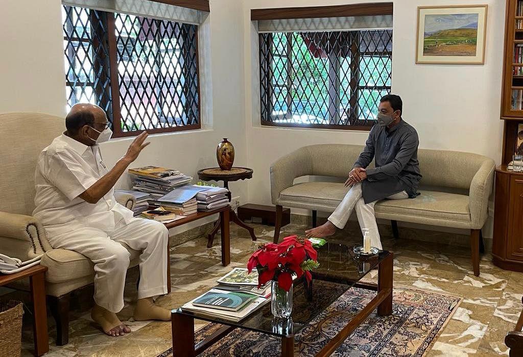 BJP MP Sambhaji Chhatrapati meets Sharad Pawar over Maratha quota issue
