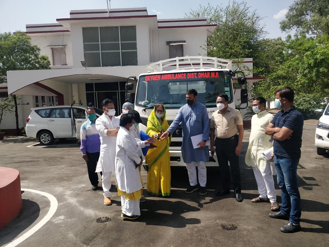 Dhar: Truck gets new look, converted into ambulance to have separate identity