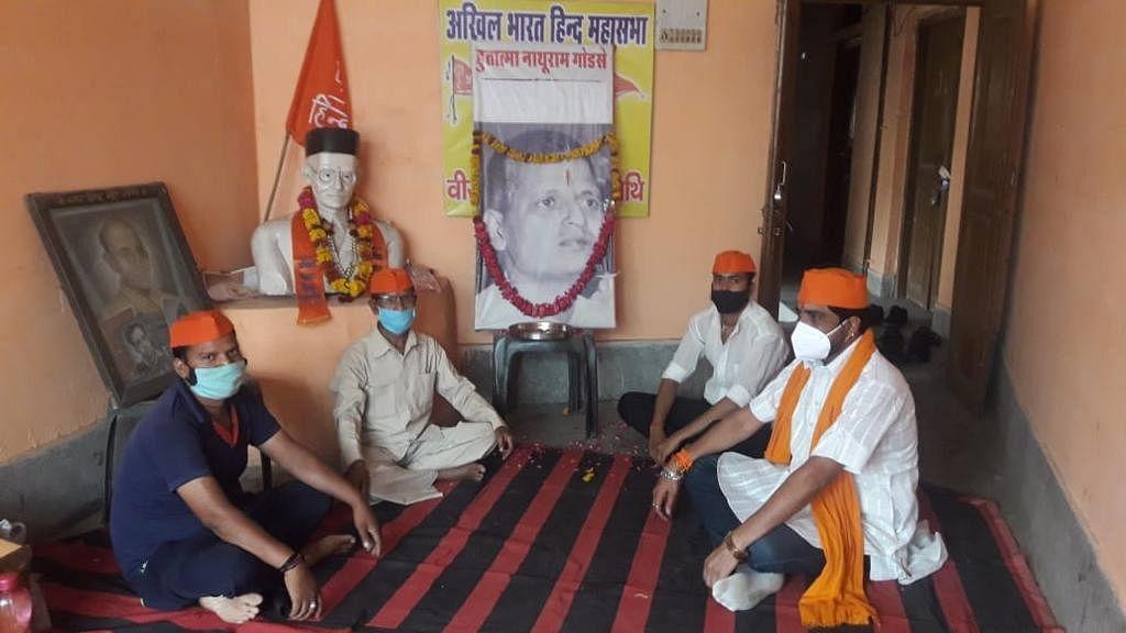 Hindu Mahasabha celebrated 112th birth anniversary of Mahatma Gandhi's assassin Nathuram Godse in Gwalior on Wednesday