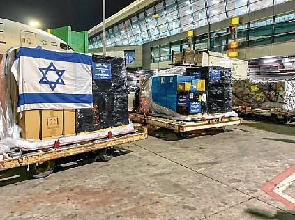 Foreign aid piles up at Delhi airport