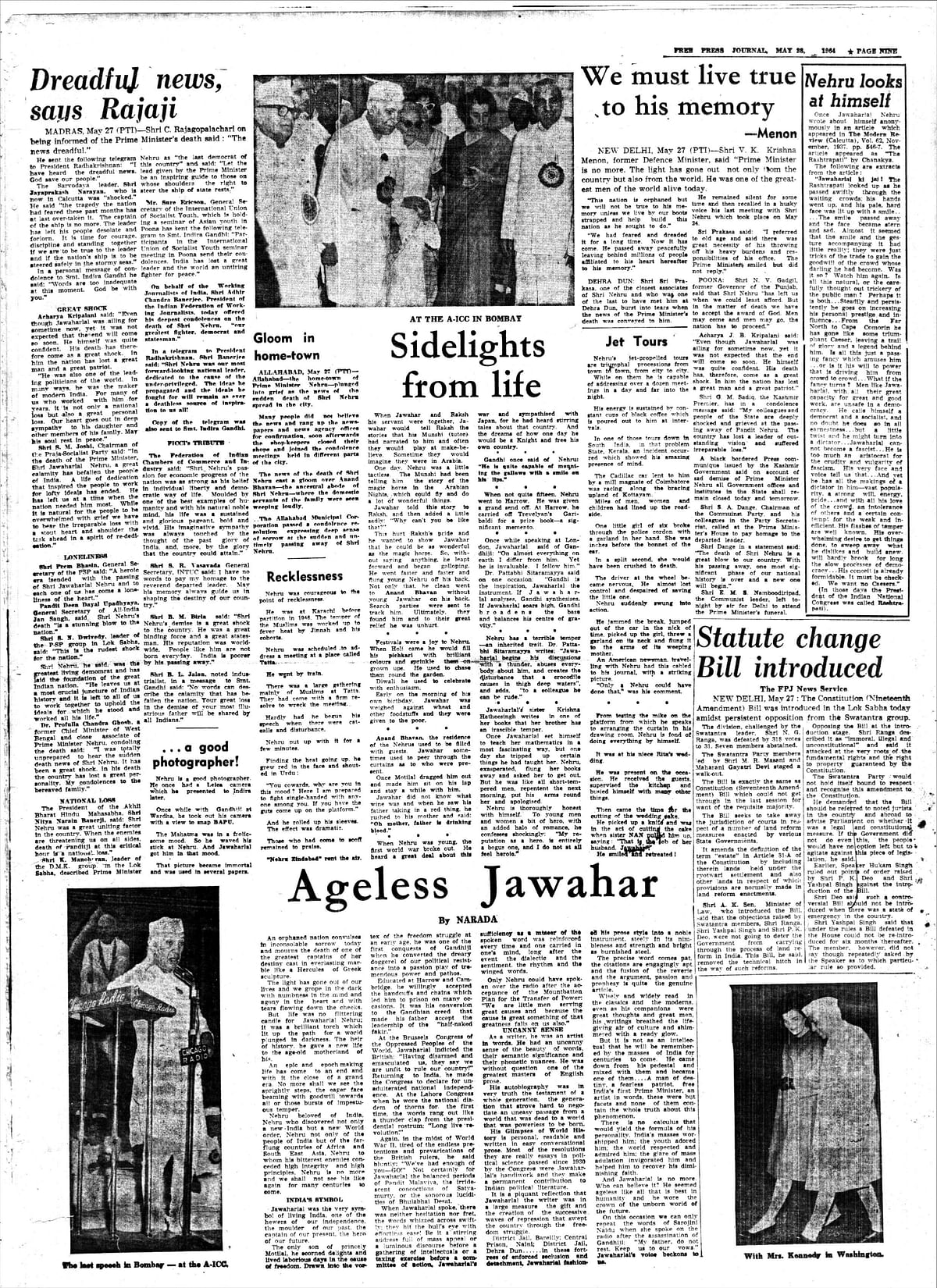 From the FPJ Archives: Nehru epoch comes to an end, world grieves for India's lost leader