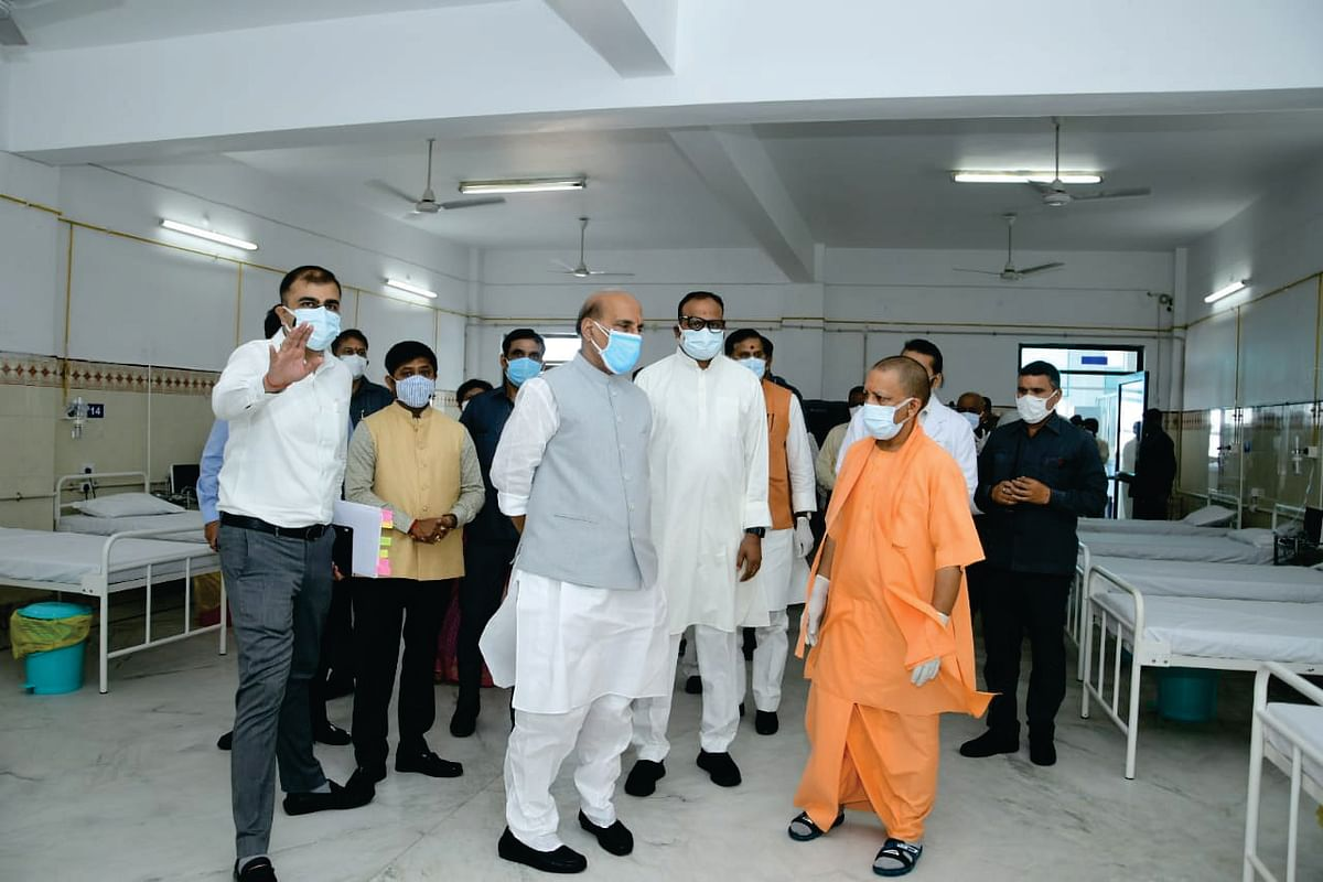 Defence Minister and UP CM hail HAL established COVID Care Hospital in Lucknow