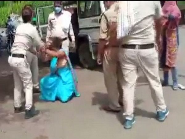Sagar: Police thrash woman for not wearing mask, 2 cops suspended