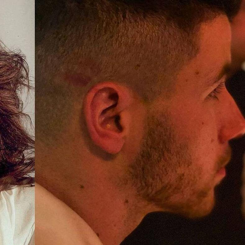 Can you spot Priyanka Chopra's lipstick mark on Nick Jonas in this picture?