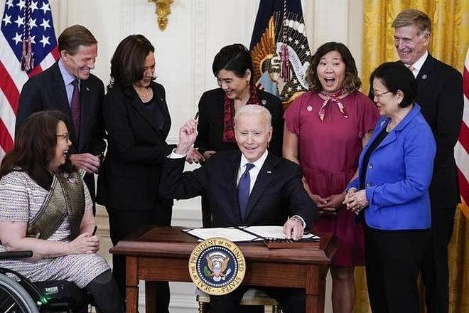 US President Joe Biden signs bill to address hate crimes against Asian-Americans