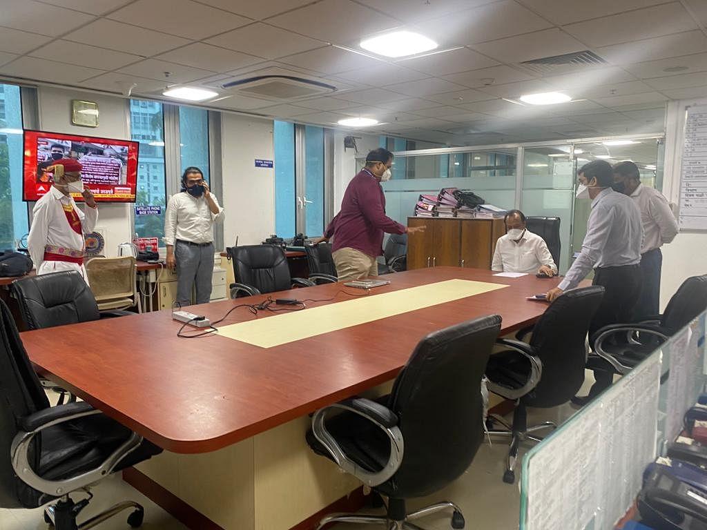 Deputy CM Ajit Pawar in Mantralaya control room taking stock of Cyclone