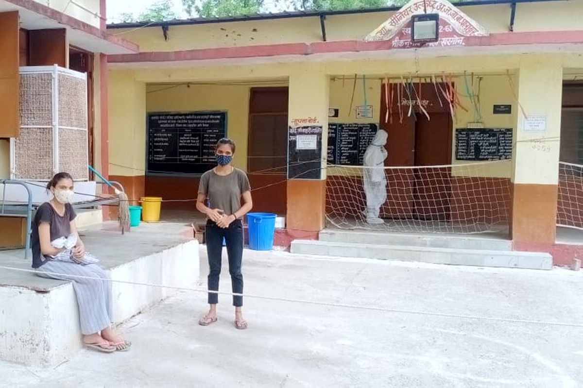 A girl who despite being Covid negative was forcefully brought to Bhikangaon Covid centre with her corona positive younger sister on Tuesday