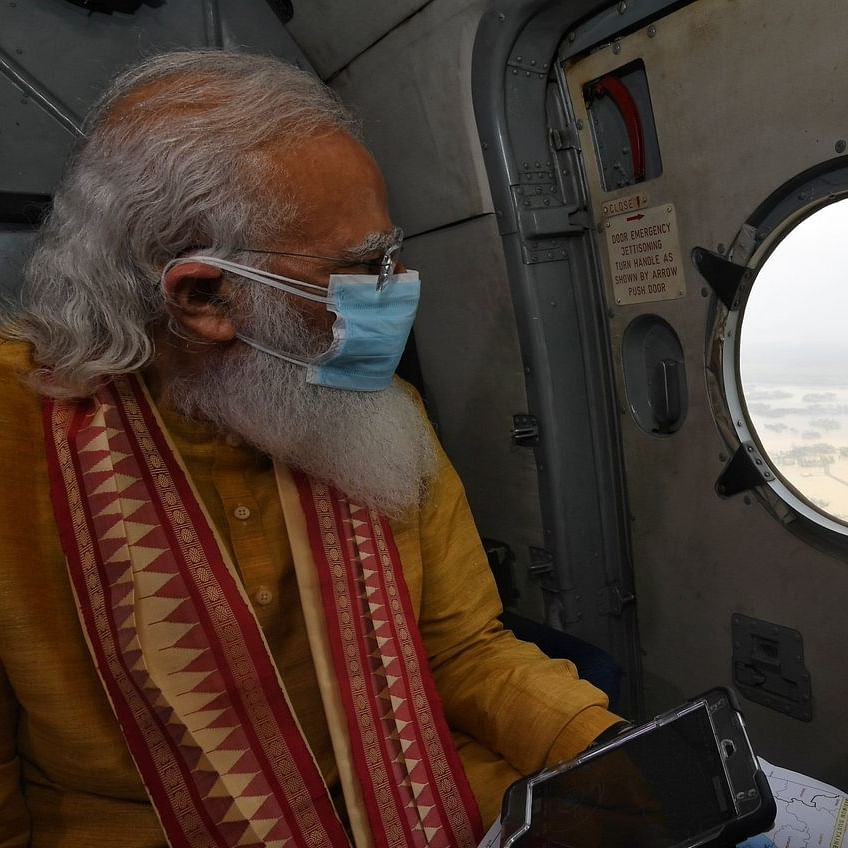 Cyclone Yaas: PM Modi undertakes aerial survey of affected parts of Odisha, West Bengal