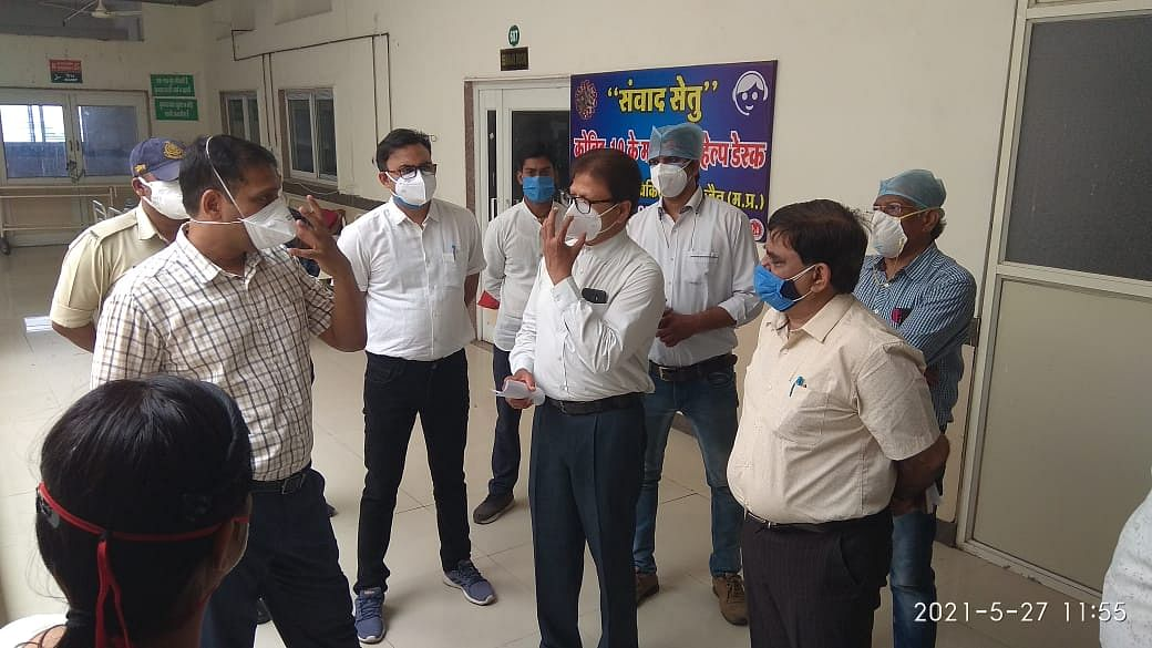 Collector inspects Government Charak Hospital to direct the management to brace up for the third wave of Covid-19.