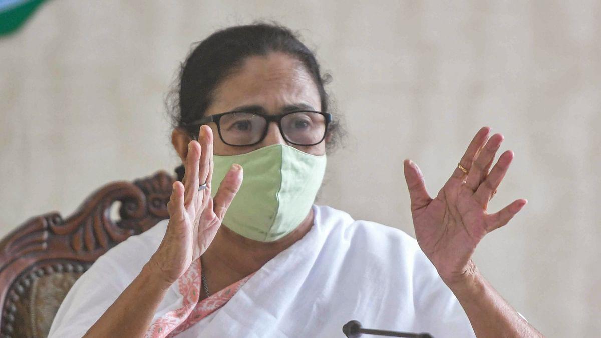 West Bengal Chief Minister Mamata Banerjee addresses a press conference at State Secretariat, Nabanna, in Kolkata