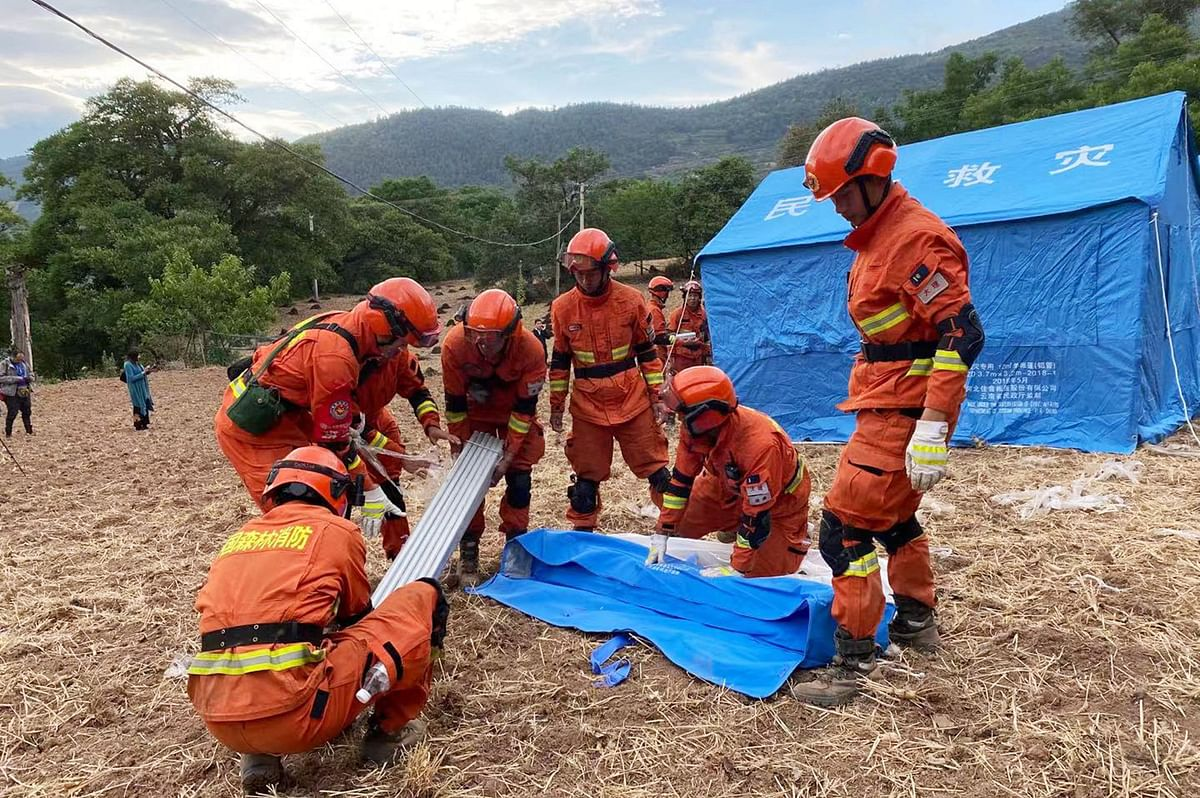 3 killed, 27 injured after series of earthquakes hit China's Yunnan province