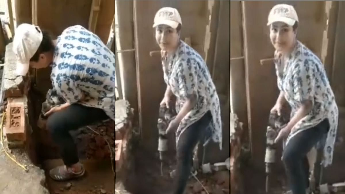 Watch: Shilpa Shinde demolishes a wall by herself, says 'unemployed people should change field'