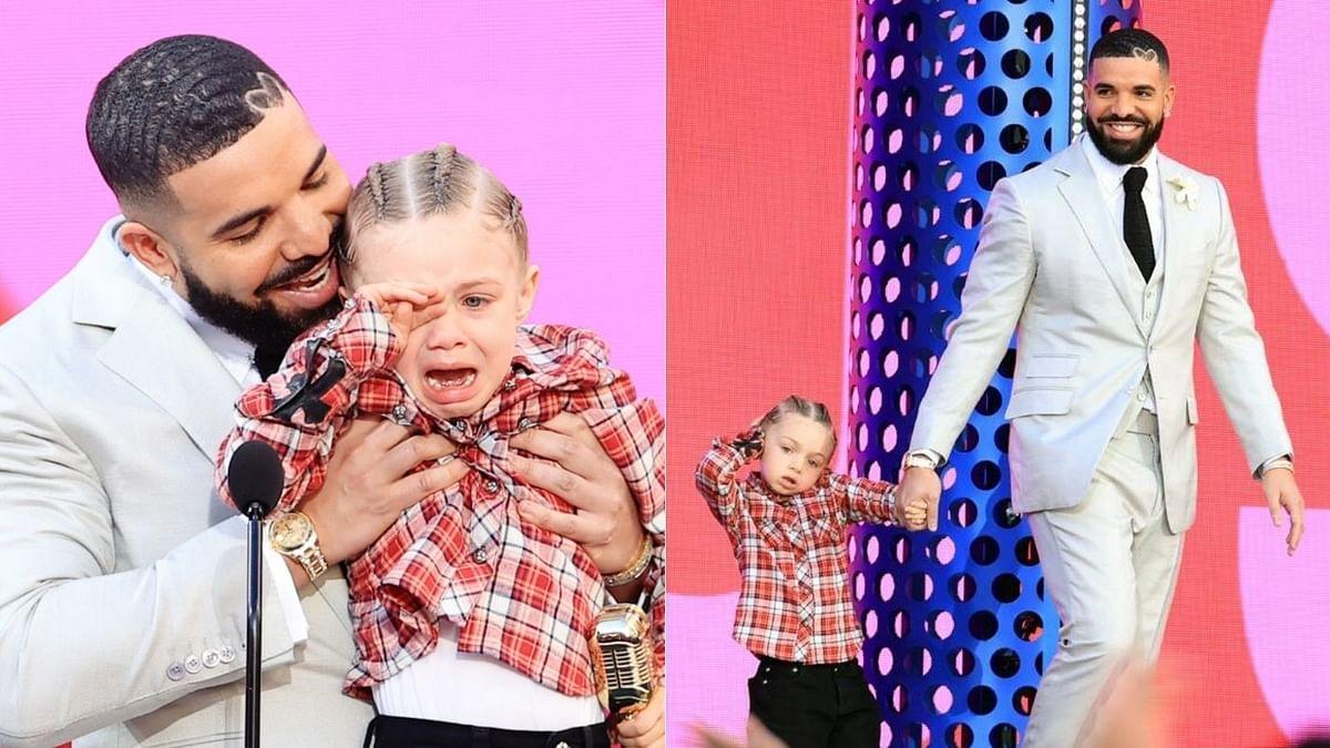 Drake's son Adonis makes rare appearance at BBMAs 2021 as rapper dedicates award to him