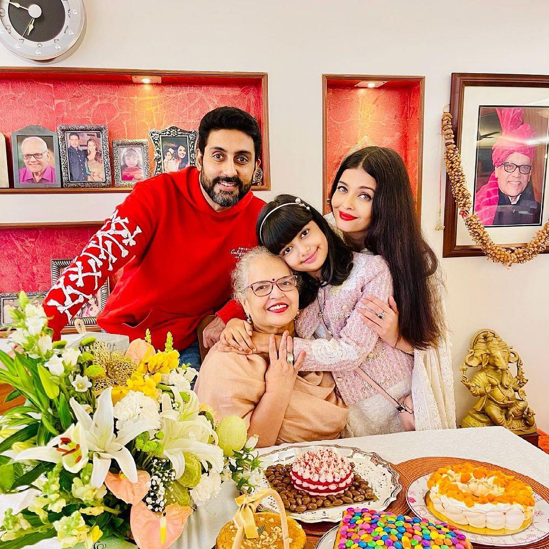Inside Pics: Aishwarya, Aaradhya and Abhishek Bachchan celebrate Vrinda Rai's 70th birthday