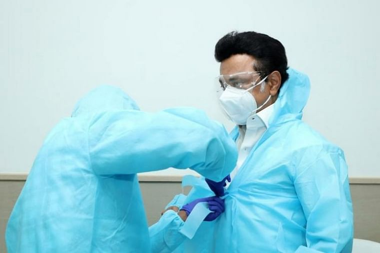 Tamil Nadu: Chief Minister MK Stalin dons PPE suit to meet COVID-19 patients