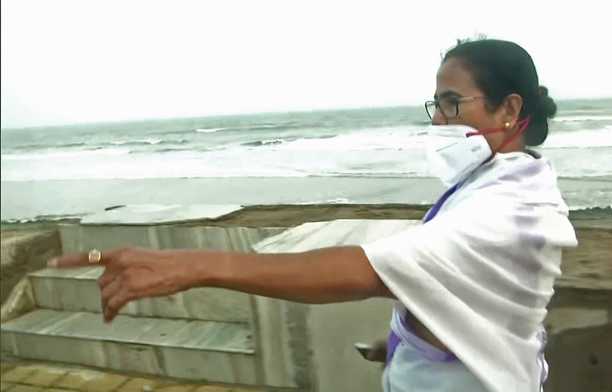Mamata Banerjee conducts aerial survey of Cyclone Yaas-hit areas in West Bengal