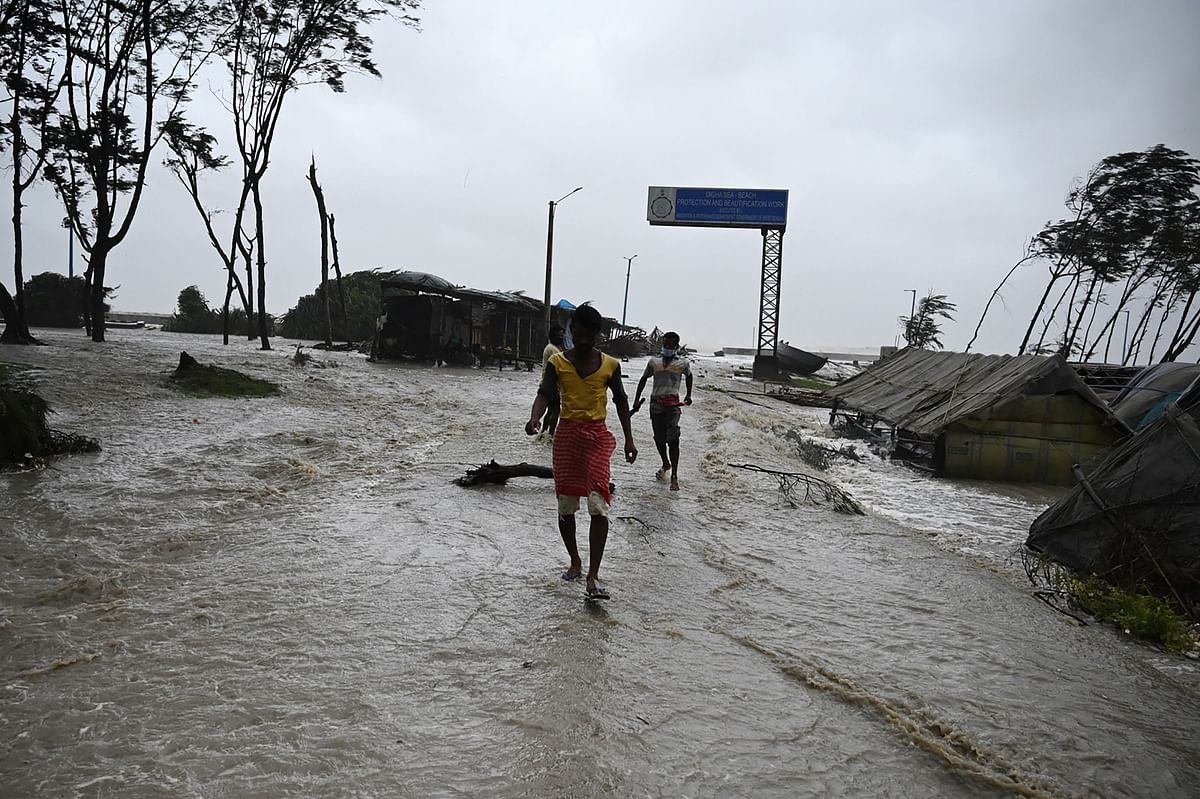 Watch: Sea water enters residential areas in West Bengal's Digha as Cyclone Yaas rages