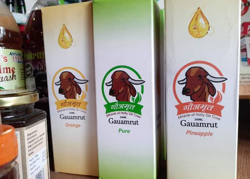 Pineapple and orange flavoured cow urine? Netizens horrified as photos of bizarre product go viral