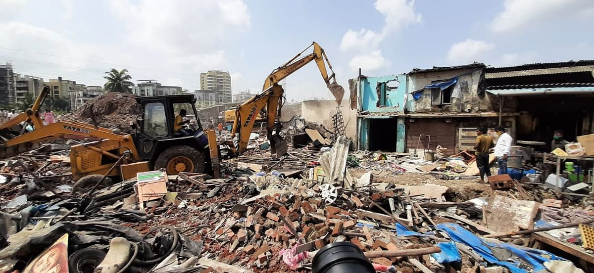 The demolition site