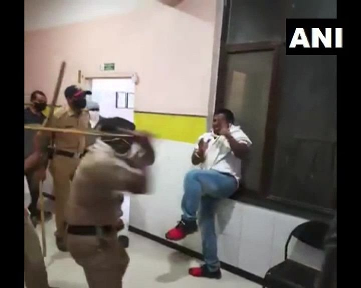 Probe ordered after video of cops thrashing BJP worker in Maharashtra's Jalna goes viral