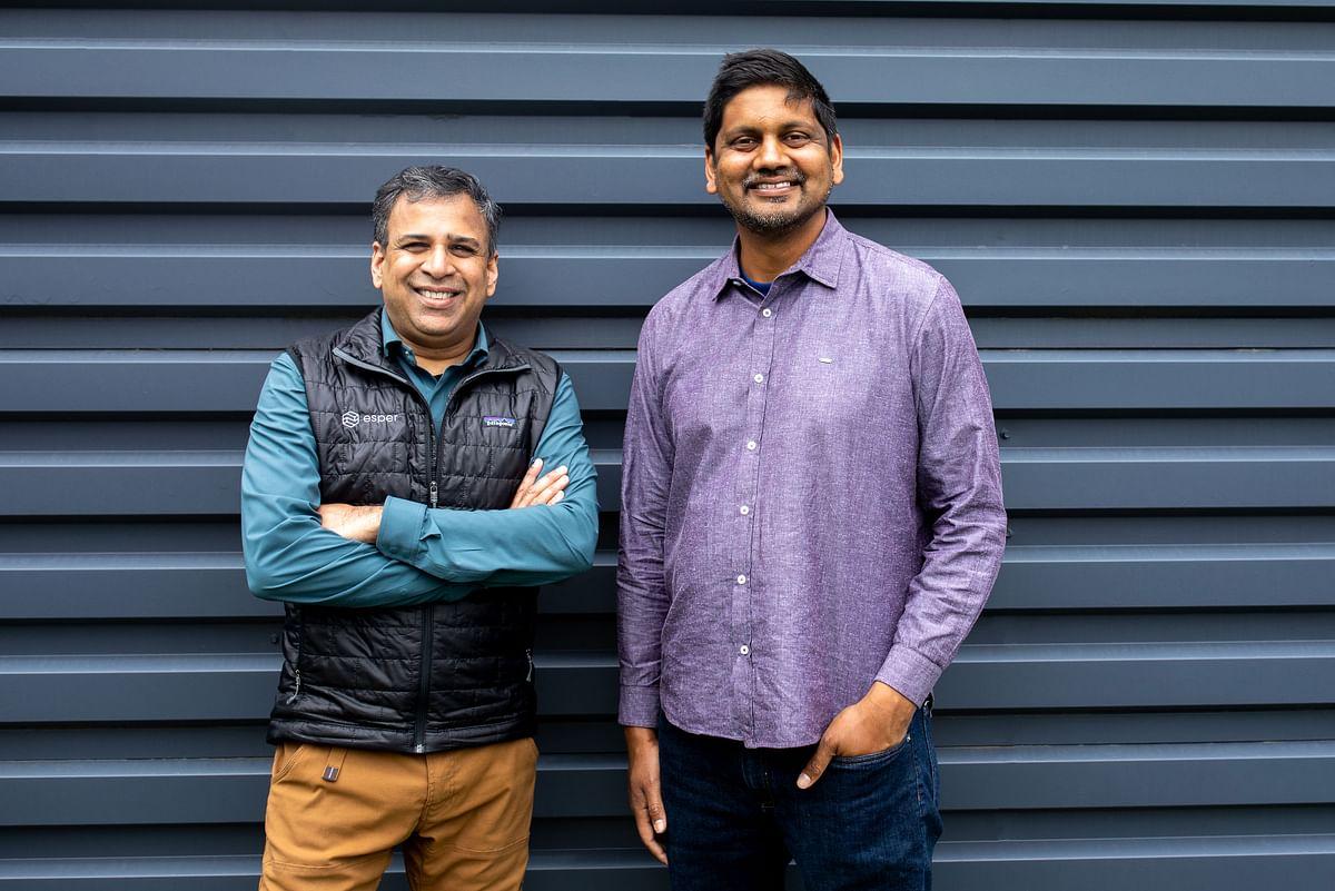 Yadhu Gopalan, CEO (left) and Shiv Sundar, COO of Esper
