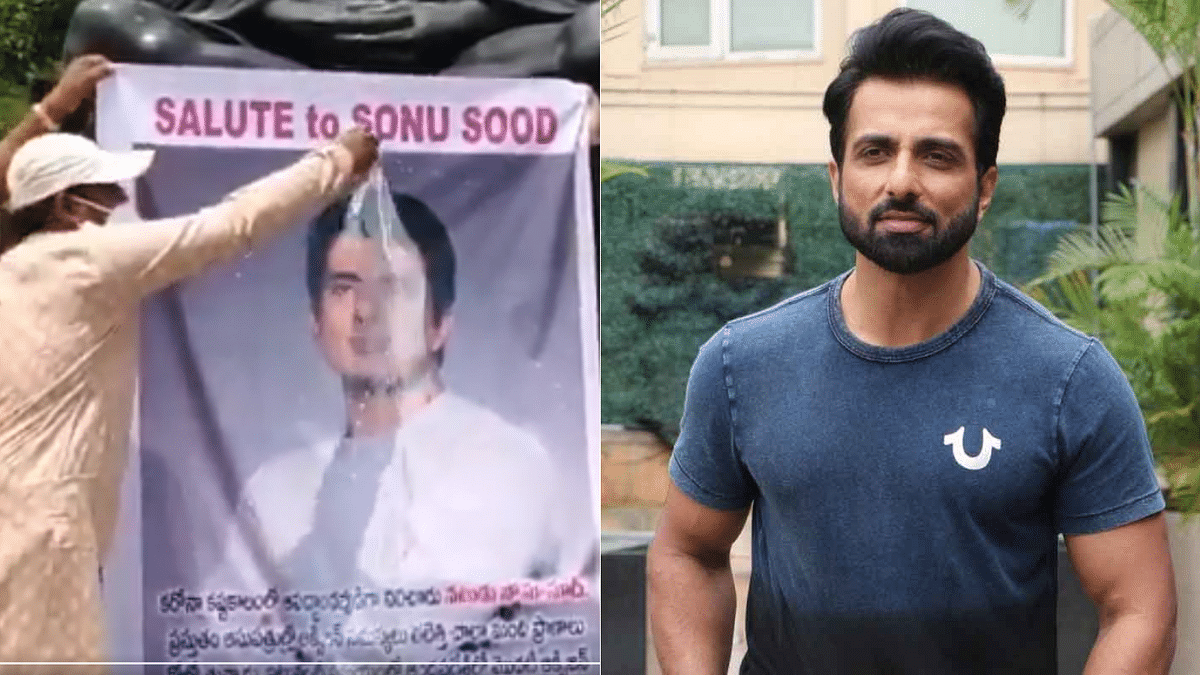 'Save it for the needy': Sonu Sood reacts to fans pouring milk on his photo in Andhra Pradesh