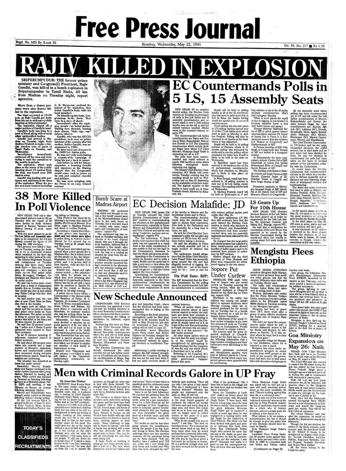 From the FPJ Archives: Rajiv Gandhi's assassination, nationwide mourning and Sonia's accession