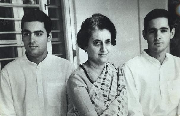Indira Gandhi and sons- Rajiv and Sanjay