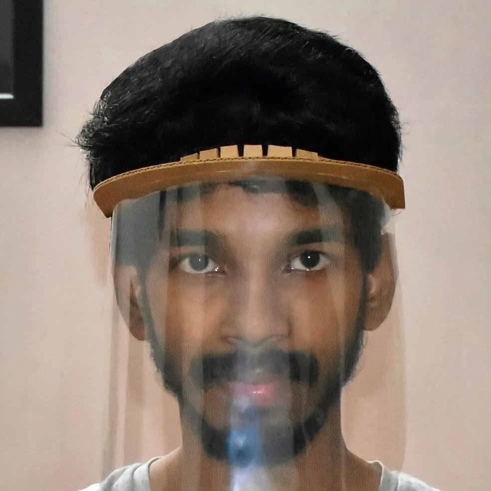 P Mohan Aditya from SRM University, AP granted copyright for face shield design