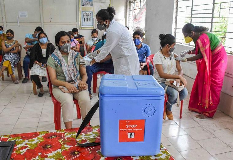 A young beneficiary receives COVID-19 vaccine dose at a vaccination centre in Agartala, Thursday, May 13. (Representative Photo)