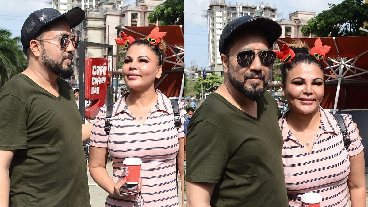Rakhi Sawant and Mika Singh spotted in Mumbai