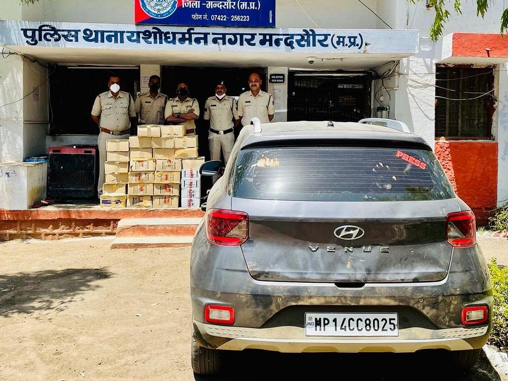 Madhya Pradesh: Illegal liquor worth Rs 1.17 L seized in Mandsaur