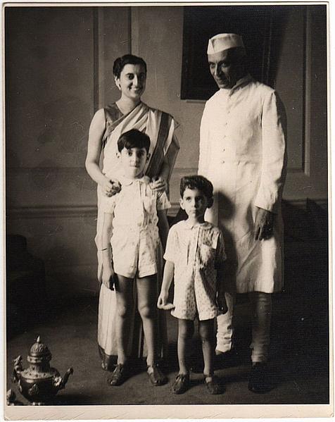 Indira Gandhi, Jawaharlal Nehru, Sanjay Gandhi and Rajiv Gandhi
