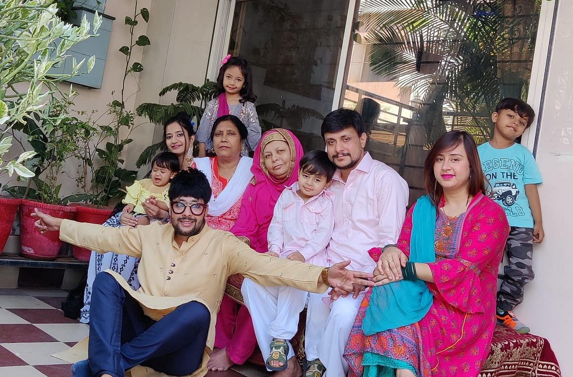 Eid celebrations at home in Indore on Friday