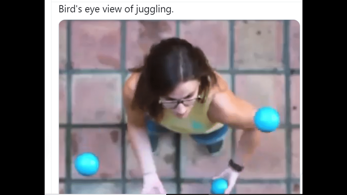 Ever thought what juggling looks like from above? WATCH this mesmerising video