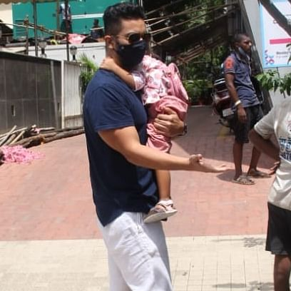 Watch: Angad Bedi reminds hospital security guards to check his temperature while entering premises