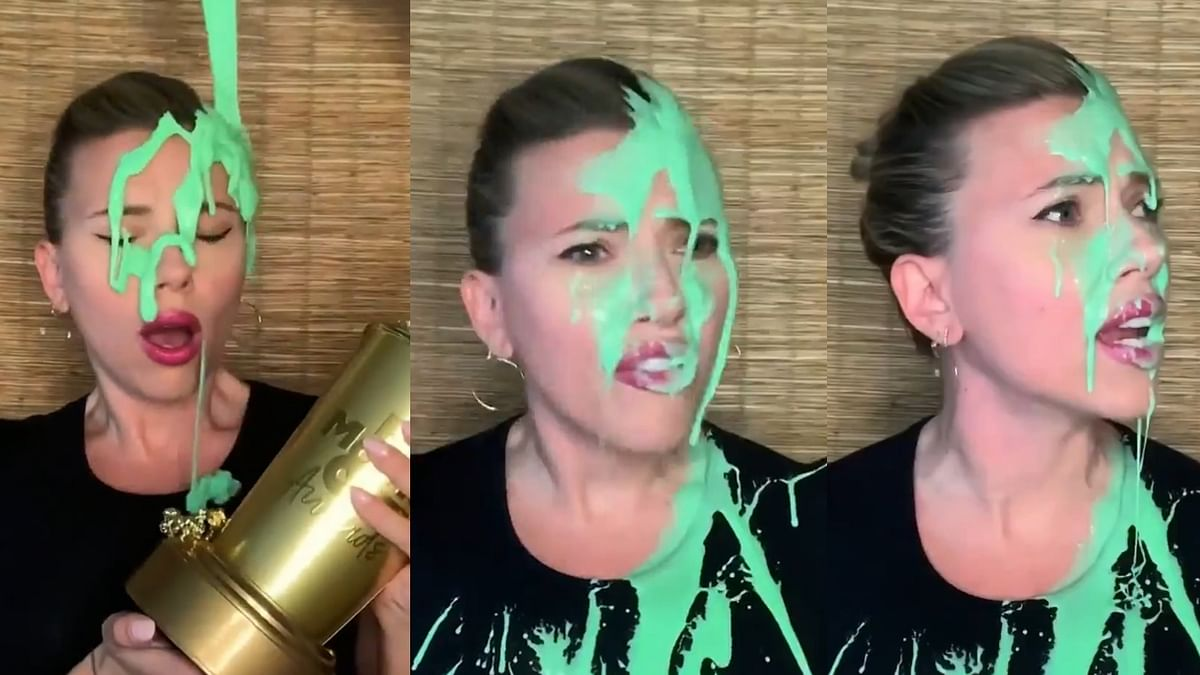 Watch: Scarlett Johansson gets slimed by Colin Jost during 2021 MTV Generation Award speech