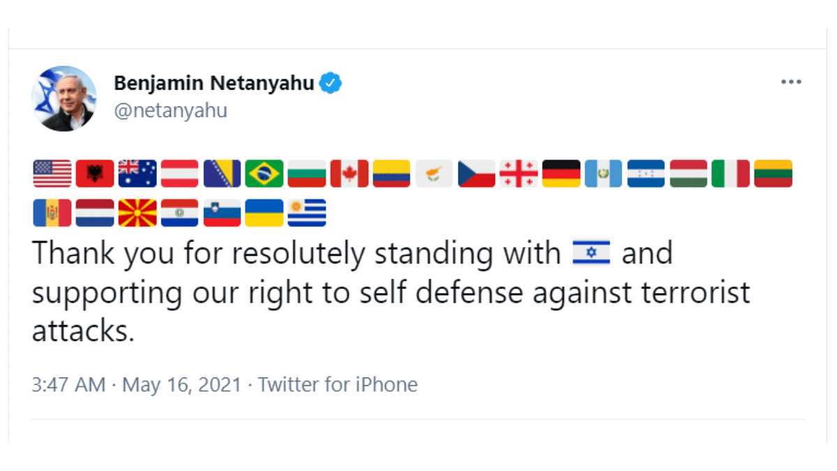Israeli PM Benjamin Netanyahu thanks countries supporting Israel; Indians ask, 'Where is India?'