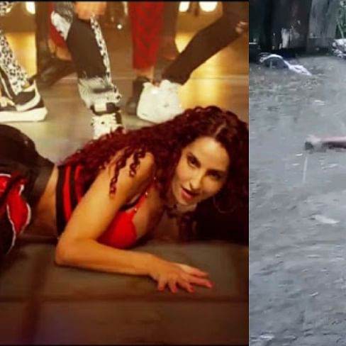 Watch: Nora Fatehi, Remo Dsouza react to viral video of man doing 'Garmi' hook step on flooded street