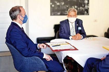 External Affairs Minister Dr Jaishankar meets UK Foreign  Secretary Dominic Raab in Rome, Italy, on Tuesday.