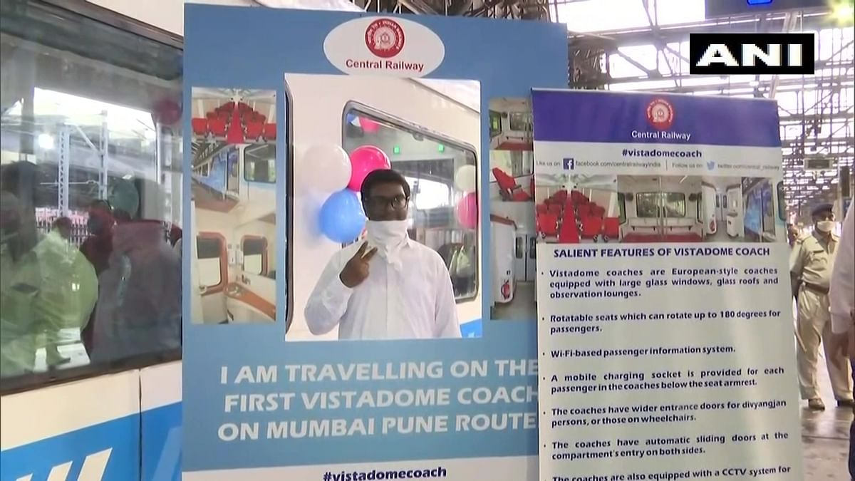 Check out videos and photos: Central railway restores Mumbai-Pune Deccan Express special train with 'Vistadome coach'